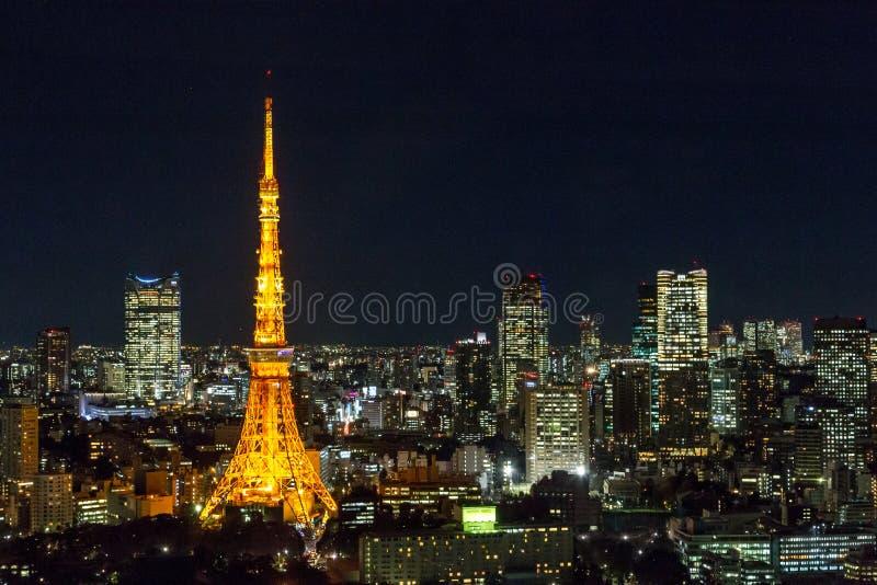 Vue de nuit d'horizon de Tokyo image stock