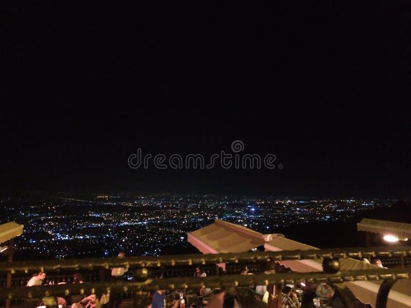 Vue de nuit d'Islamabad images libres de droits