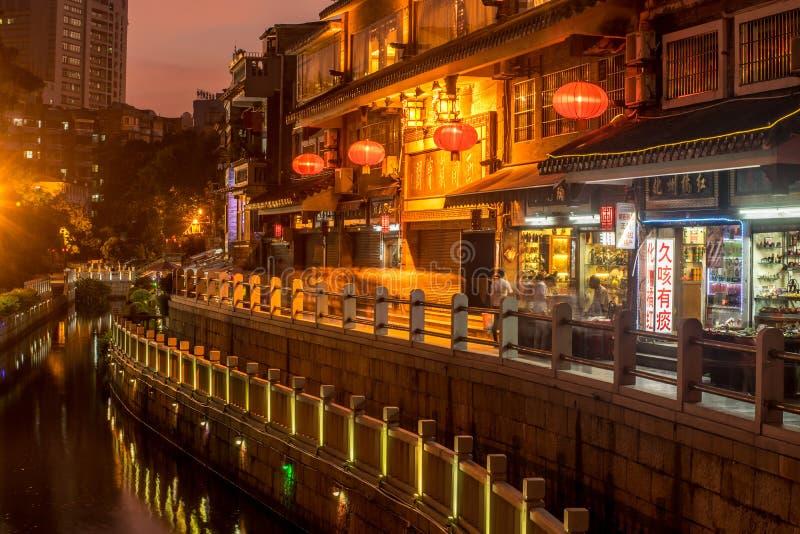 Vue de nuit de baie de litchi photographie stock libre de droits