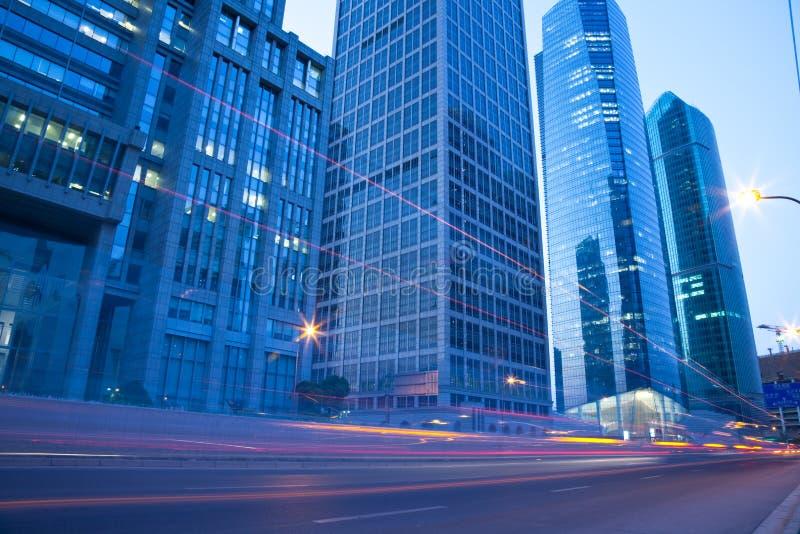 Vue de nuit de Changhaï images stock