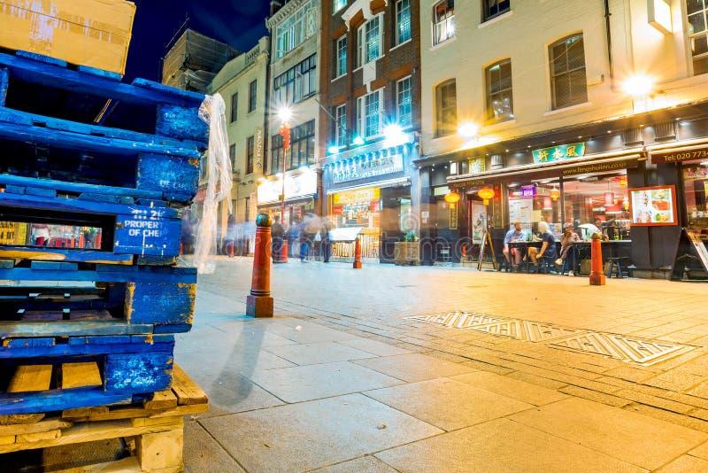 Vue de nuit de Chinatown image stock
