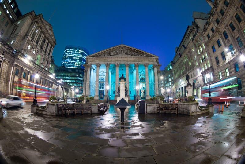 La bourse des valeurs royale, Londres, Angleterre, R-U image libre de droits