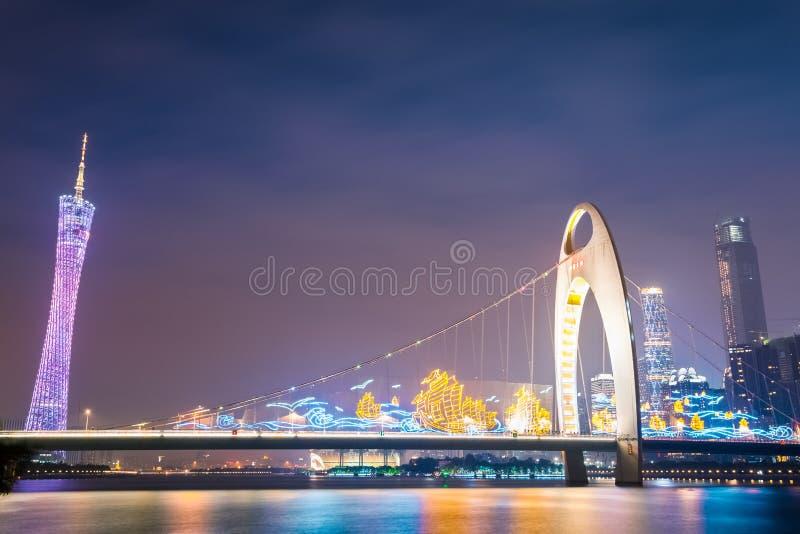 vue de nuit de guangzhou image stock