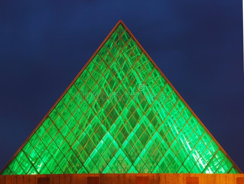 vue de nuit de hall d'Edmonton de ville photos stock