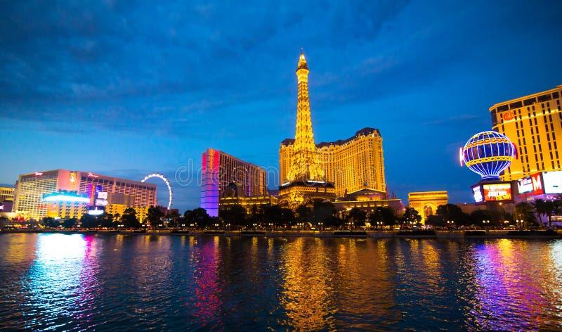 Vue de nuit de Las Vegas photographie stock libre de droits