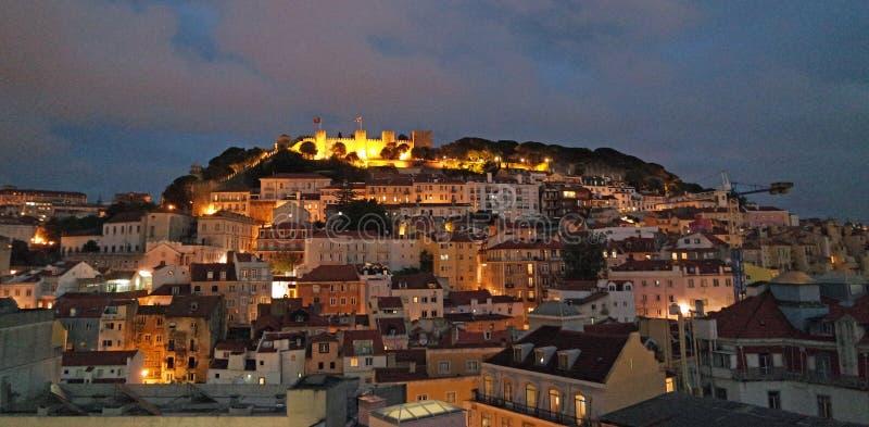 Vue de nuit de Lisbonne Portugal photos stock