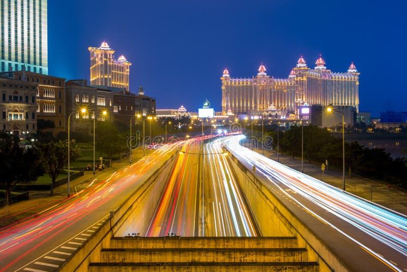Vue de nuit de Macao photographie stock