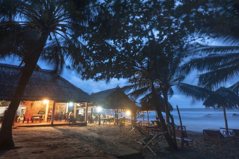 Vue de nuit de plage photographie stock
