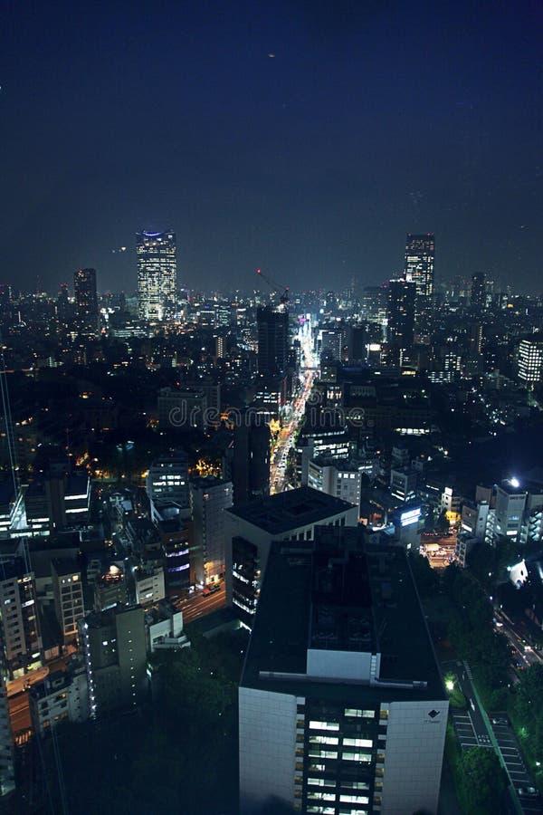 Vue de nuit de Tokyo photographie stock libre de droits
