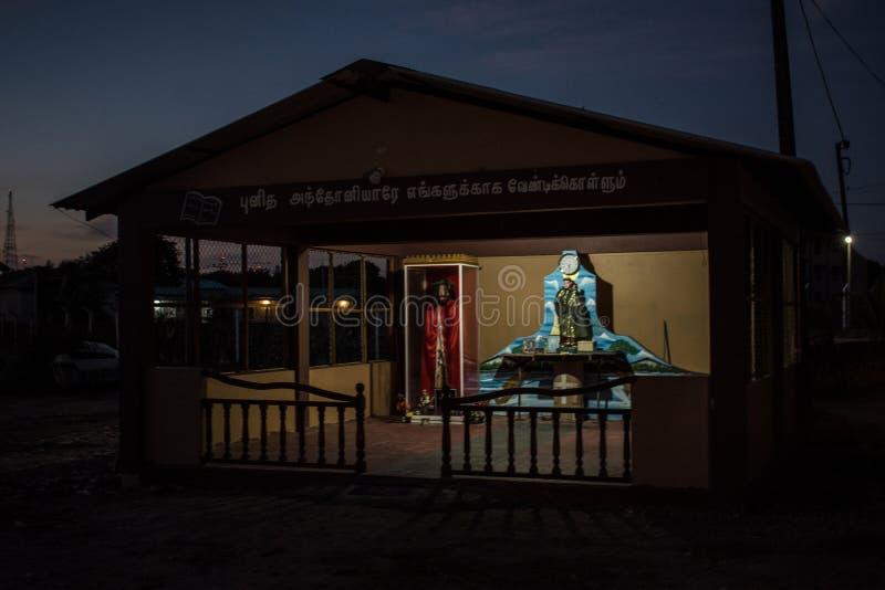 Vue de nuit de Jaffna photo stock