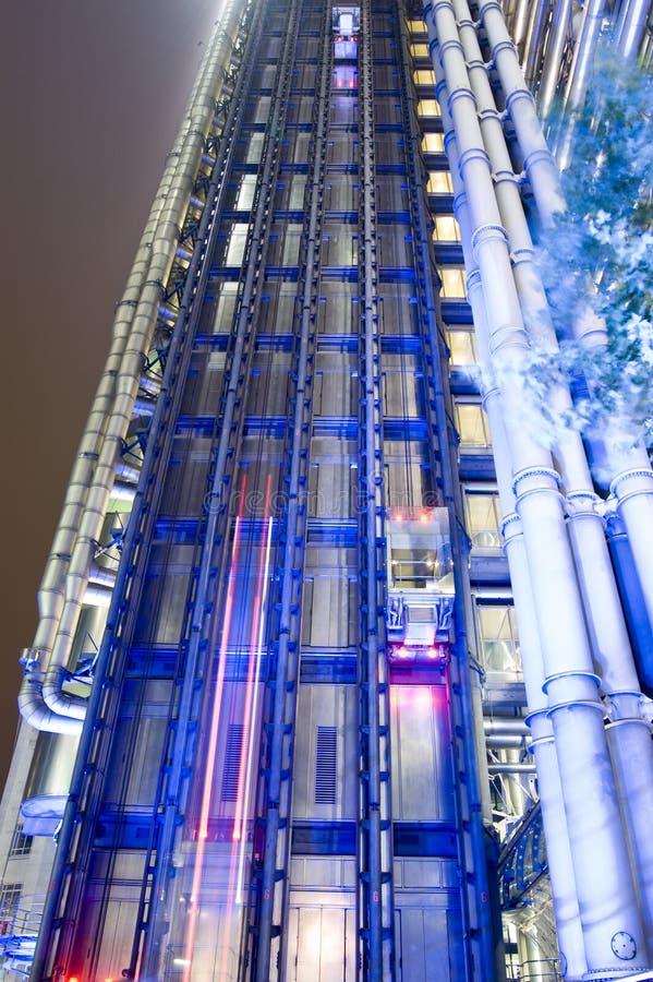 Vue de nuit, Lloyds de Londres photographie stock libre de droits