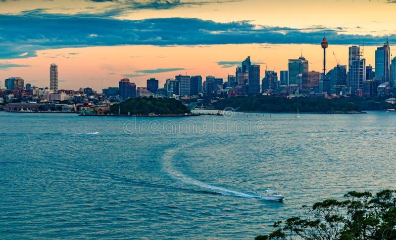 Vue de nuit de Sydney photo stock