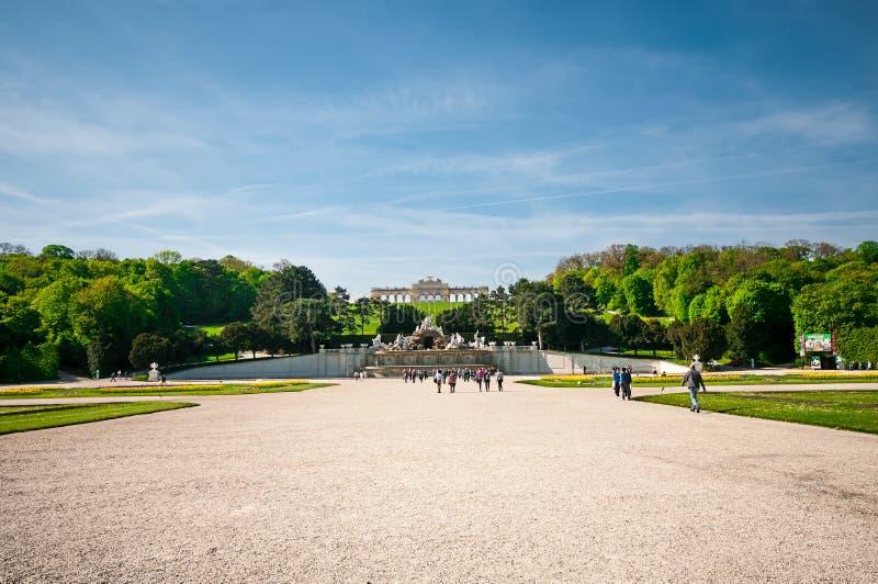 Vue de palais célèbre de Schoenbrunn à Vienne, Autriche photographie stock libre de droits