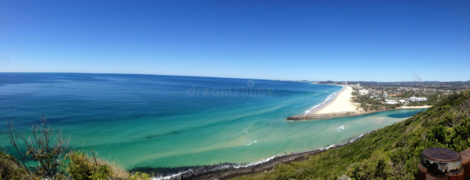 Vue de Palm Beach images libres de droits