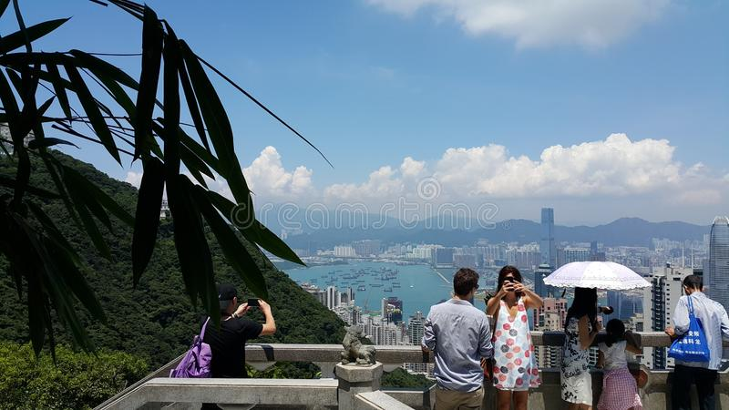Vue de Panaromic de Hong Kong photos stock