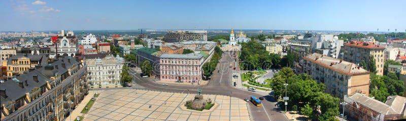 Vue de panorama de Kiev photos libres de droits