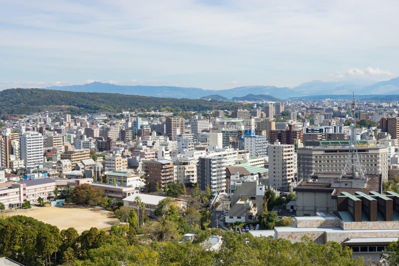 Vue de panorama de Kumamoto images libres de droits
