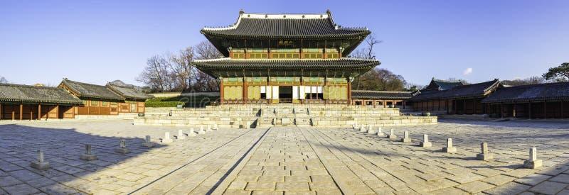 Vue de panorama de palais de Changdeokgung à Séoul, Corée du Sud photos libres de droits