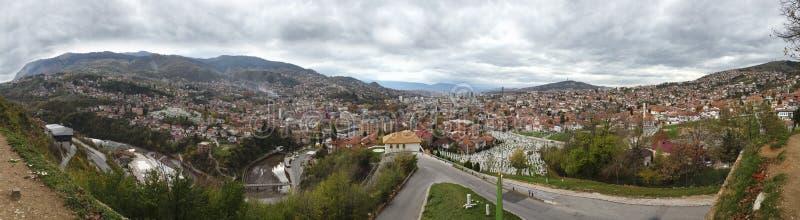 Vue de panorama de Sarajevo 1 photo libre de droits