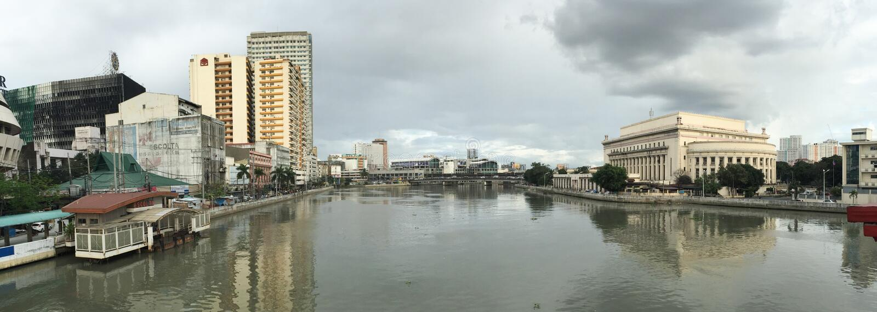 Vue de panorama de ville de Makati à Manille, Philippines images stock