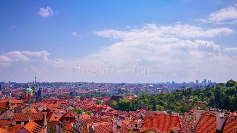 Vue de panorama de Prague au printemps, République Tchèque image libre de droits