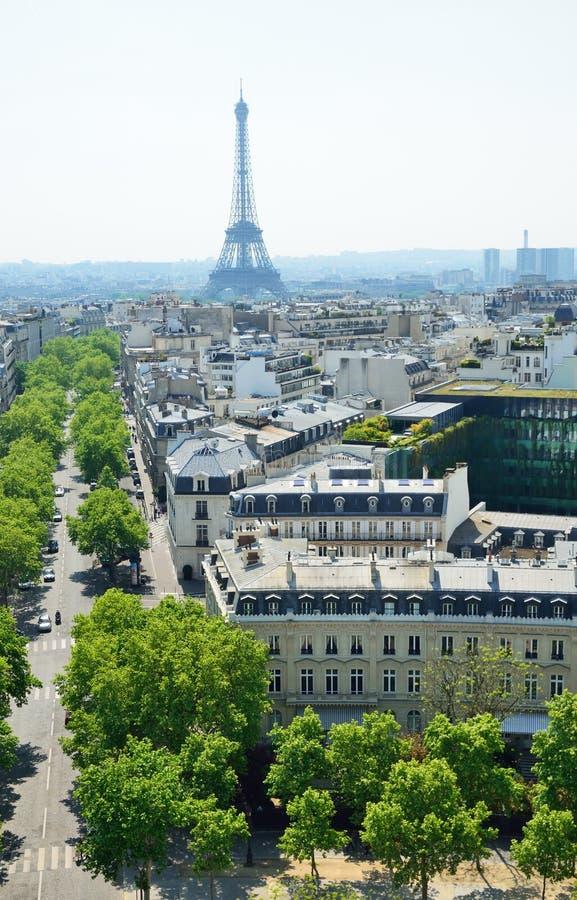 Vue de Paris de ci-avant images stock