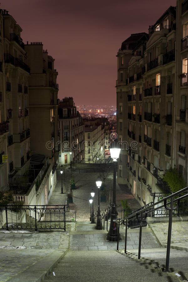 Vue de Paris de Montmartre images stock