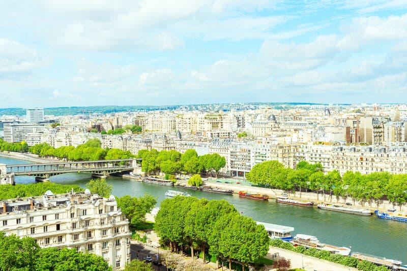 Vue de Paris de Tour Eiffel photo stock