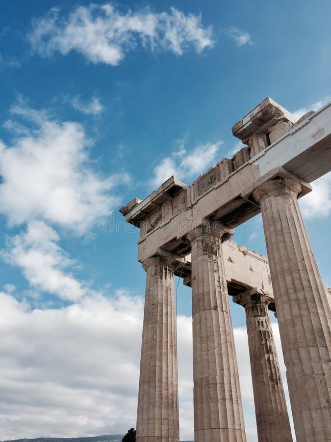 Vue de Partenon - Acropole photos stock