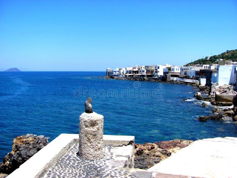 Vue de pays de Nisyros images stock