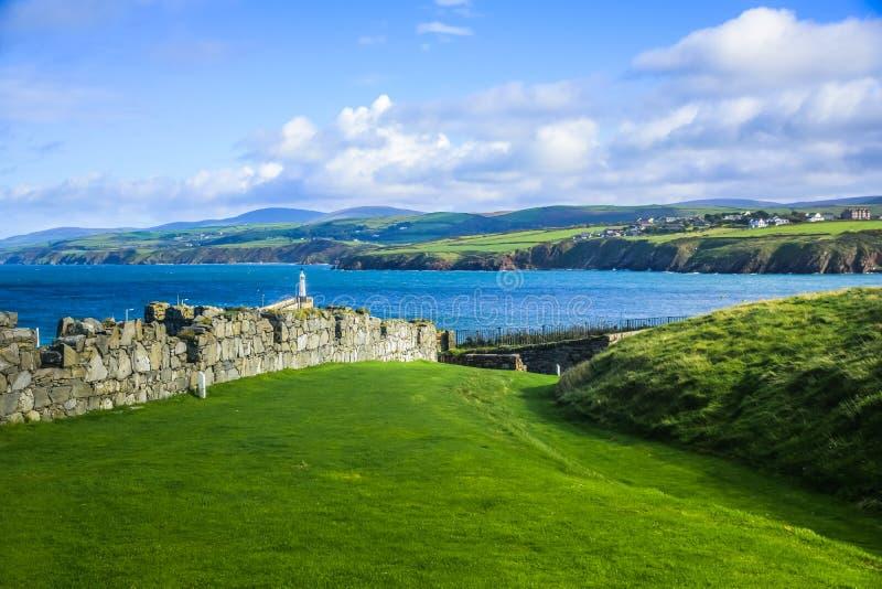 Vue de paysage d'île de Man photos libres de droits