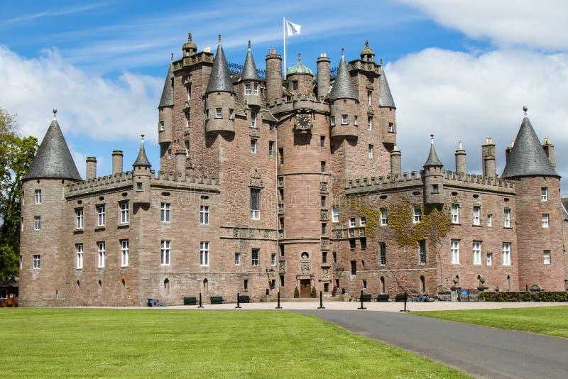 Vue de paysage de château de Glamis images libres de droits