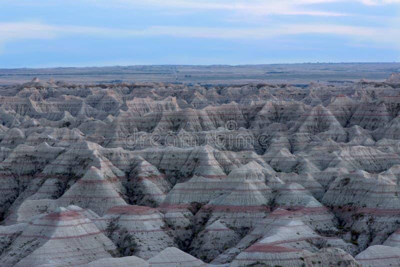 Vue de paysage du parc national de bad-lands photos libres de droits