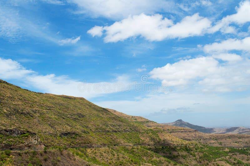 Vue de paysage de ghat de piqué près de Pune photo stock