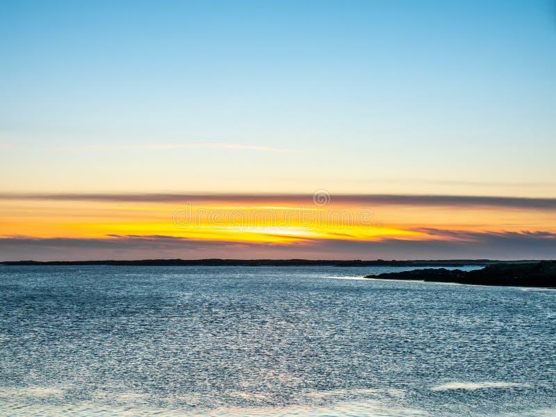 Vue de paysage marin dans Borganes, Islande image stock
