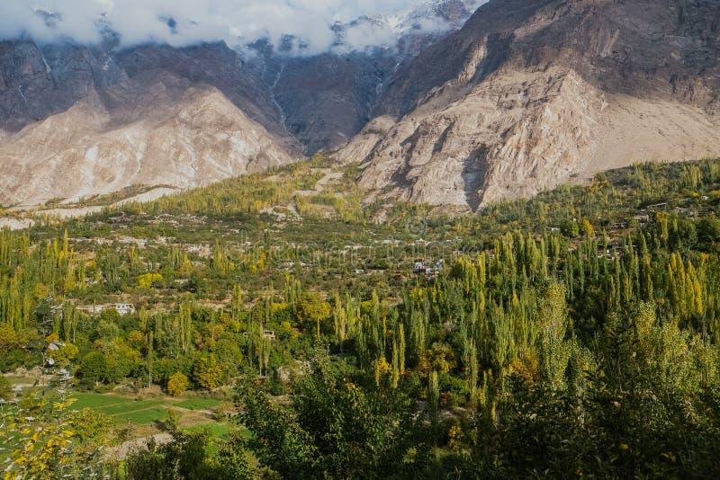 Vue de paysage de nature en vallée de Hunza Gilgit baltistan, Pakistan images libres de droits