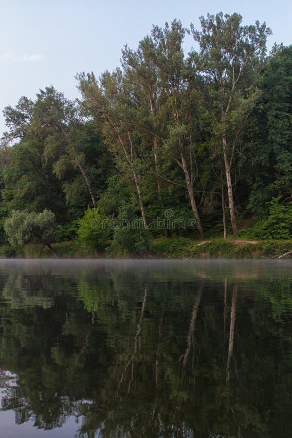 Vue de paysage de ressort de la rivière Seversky Donets photos libres de droits
