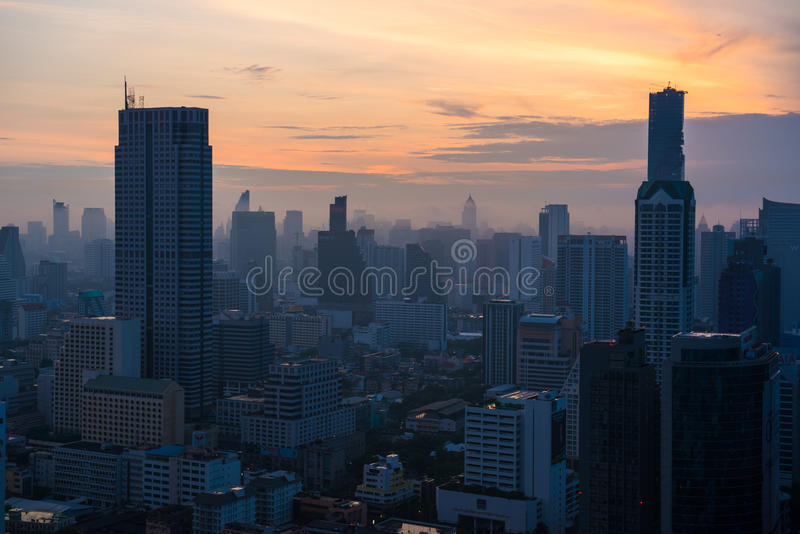Vue de paysage urbain de Bangkok, Thaïlande photo libre de droits