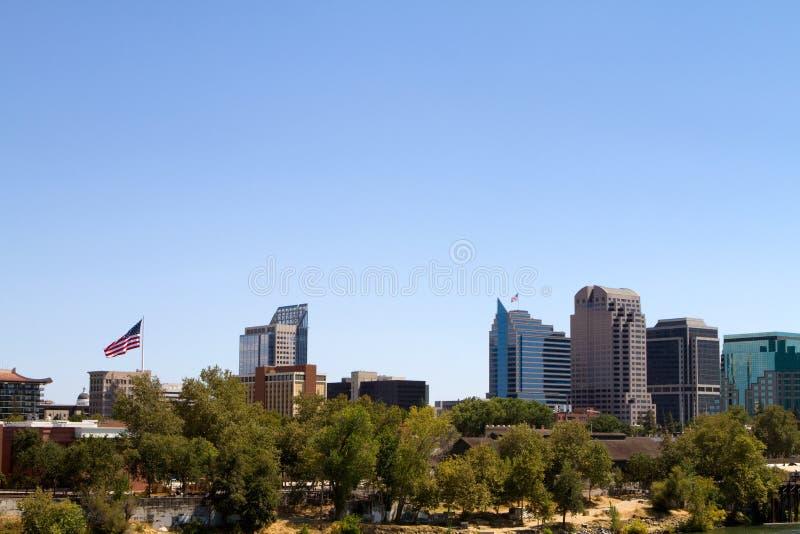 Vue de paysage urbain de Sacramento image libre de droits