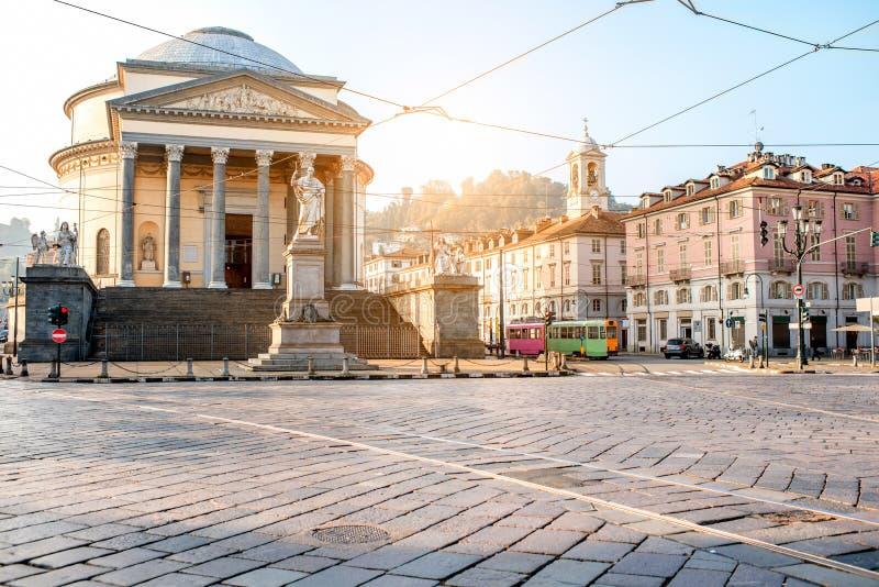 Vue de paysage urbain de Turin images stock