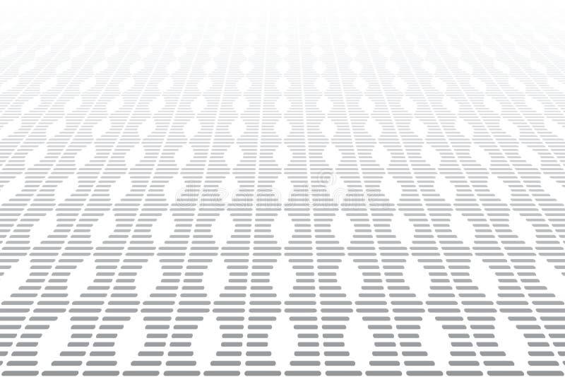 Vue de perspective de diminution Texture géométrique illustration stock