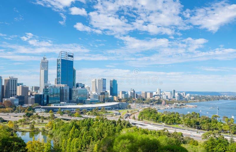 Vue de Perth à midi image stock