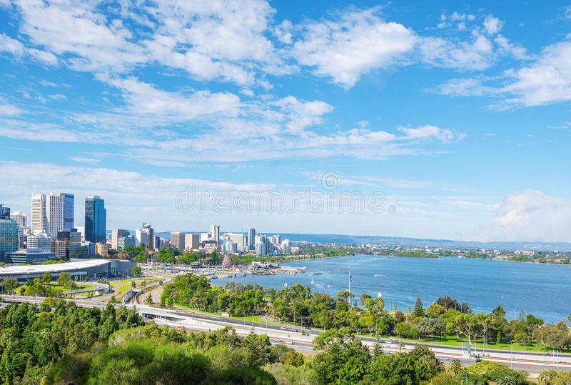 Vue de Perth à midi image libre de droits