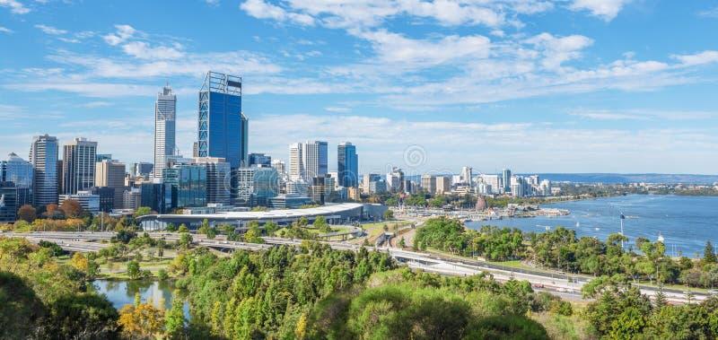 Vue de Perth à midi photos libres de droits