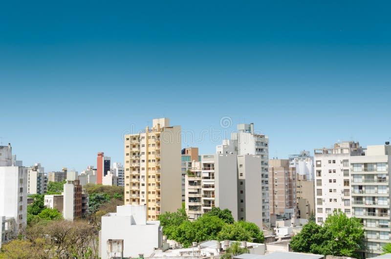 Vue de petite ville images libres de droits