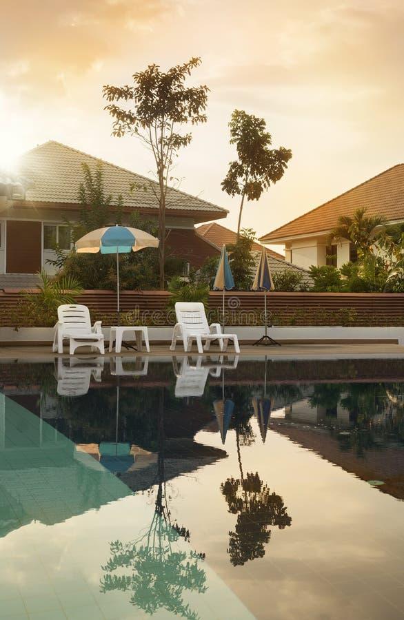 Vue de piscine photographie stock libre de droits