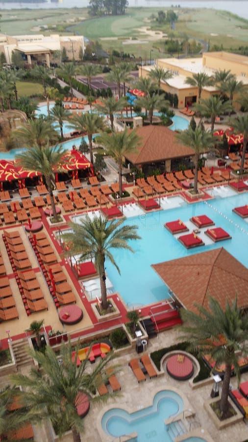 Vue de piscine photos stock
