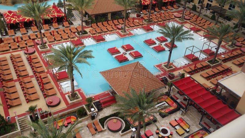 Vue de piscine de PArea images libres de droits