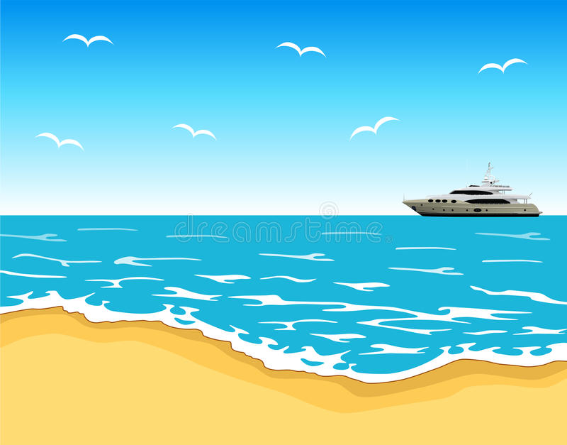 Vue de plage illustration libre de droits