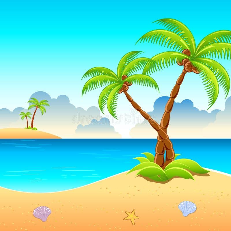 Vue de plage d'expert en logiciel illustration libre de droits